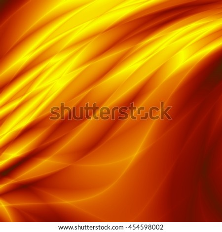Wave magic orange gold summer background - stock photo