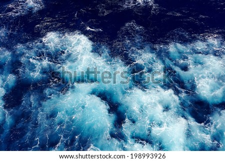 wave ocean water background. - stock photo