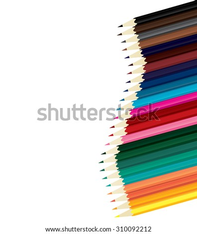 Wave of crayons, arranged by color