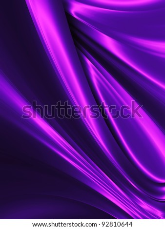 wave of purple silk close up - abstract background - stock photo