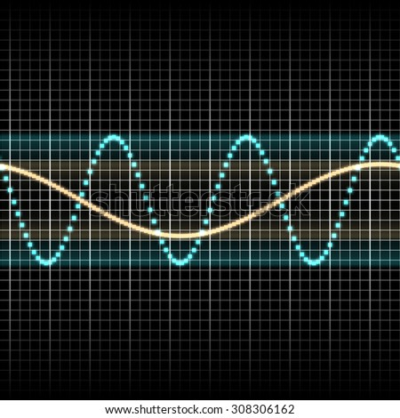 Wave of signal  from oscilloscope creen
