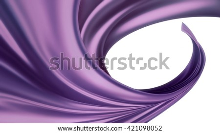wave of soft purple silk fabric full screen as background - stock photo