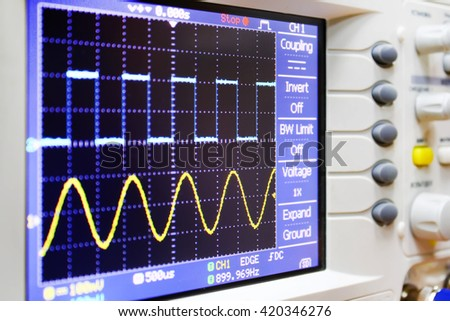 wave on oscilloscope
