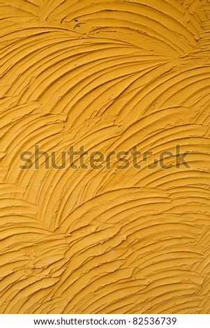 Wave pattern Cement wall for background - stock photo