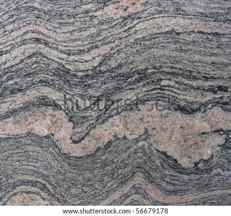 wave pink gray black marble sheet slab - stock photo