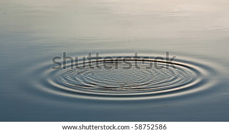 Wave Ripple Circle on the lake - stock photo