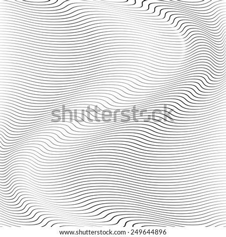 Wave Stripe Background - simple texture for your design.