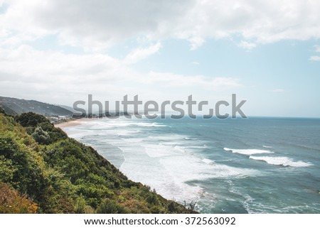 Waves along the coast