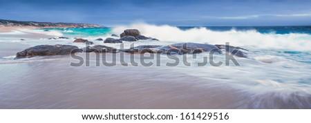 Waves crashing on an Australian Beach - stock photo