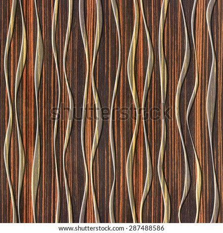 Waves decoration - Abstract decorative panels - Interior wall panel pattern  - wrapping papers - seamless - Abstract Paneling Pattern Waves Decoration Ripple Stock