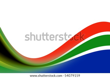 Waves illustration with south africa colors. Illustration - stock photo
