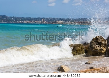 Waves in high speed shot - stock photo