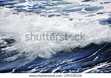 Waves in ocean  - stock photo