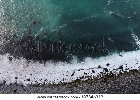 Waves in the Cliffs of Moher, West Ireland - stock photo