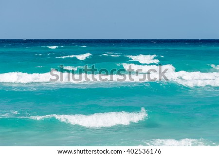 Waves in the ocean - stock photo