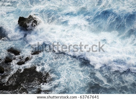 Waves in the Sea - stock photo