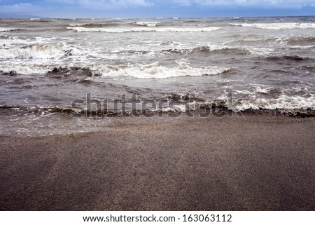 Waves in the sea, Alibag, Raigad District, Konkan, Maharashtra, India