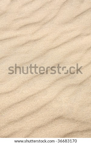 waves of sand - formed by wind - stock photo