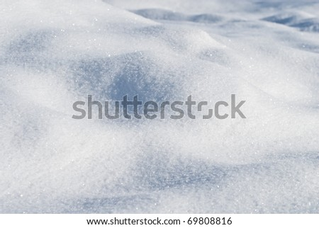 Waves of snow bumps - stock photo