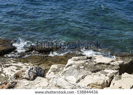 waves of the Adriatic Sea - stock photo