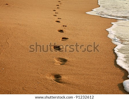 Waves on the beach - stock photo