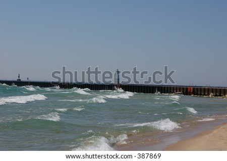 Waves Rolling To Shore