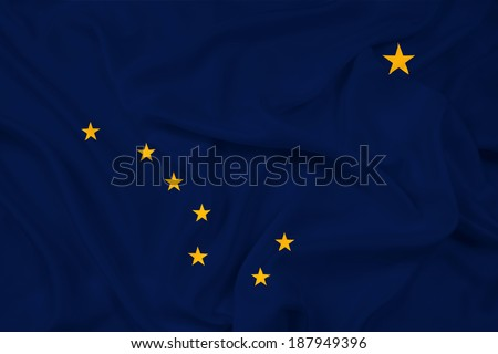 Waving Alaska State Flag