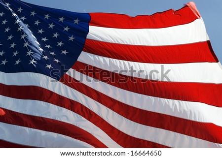 waving american flag - stock photo