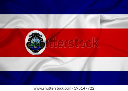 Waving Costa Rica Flag - stock photo