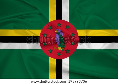 Waving Dominica Flag