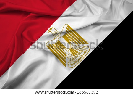 Waving Egypt Flag - stock photo