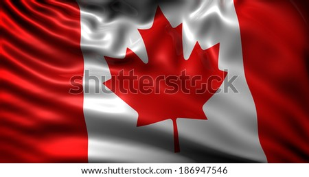 waving flag Canada - stock photo