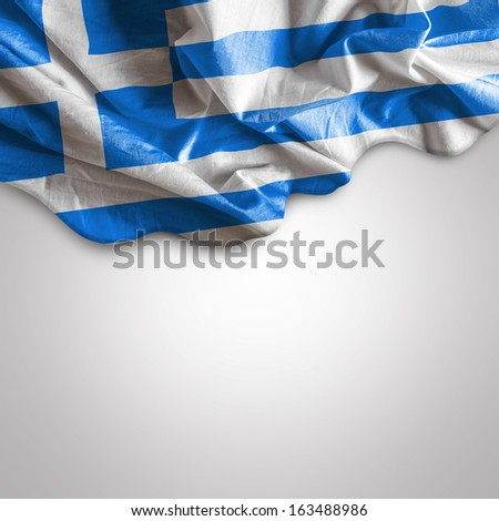Waving flag of Greece, Europe - stock photo