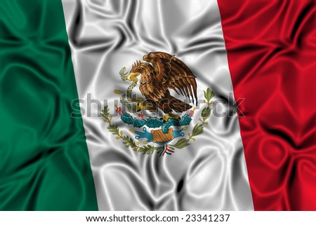 Waving flag of Mexico - stock photo
