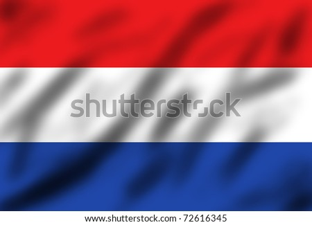 Waving flag of Netherland, 3d illustration - stock photo