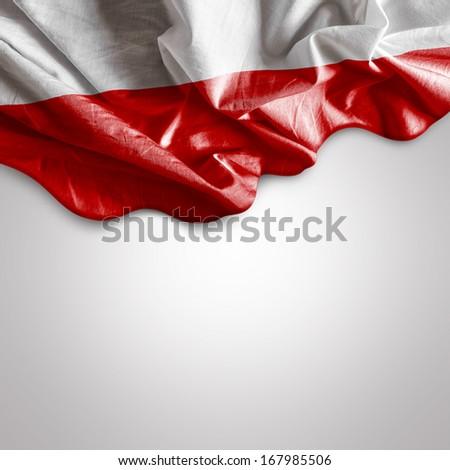 Waving flag of Poland, Europe - stock photo
