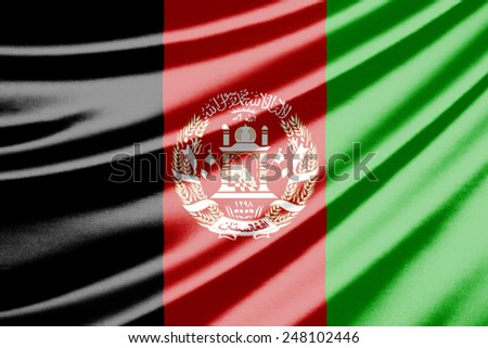 Waving flag of the Afghanistan - stock photo