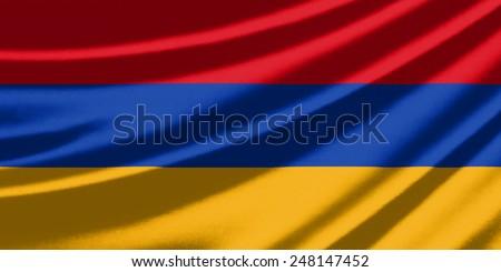 Waving flag of the Armenia - stock photo