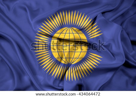Waving Flag of the Commonwealth of Nations - stock photo