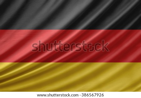 Waving Germany Flag - stock photo
