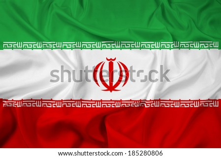 Waving Iran Flag - stock photo