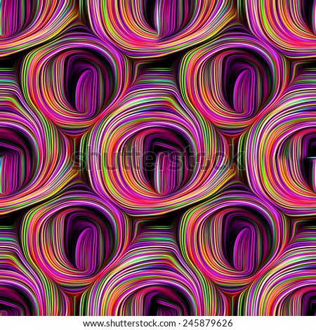 Wavy Abstract seamless pattern and background - stock photo