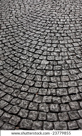 wavy brick walkway #5 - stock photo