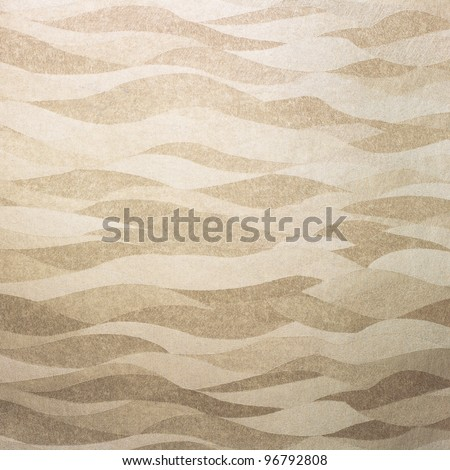 Wavy golden background/texture - stock photo