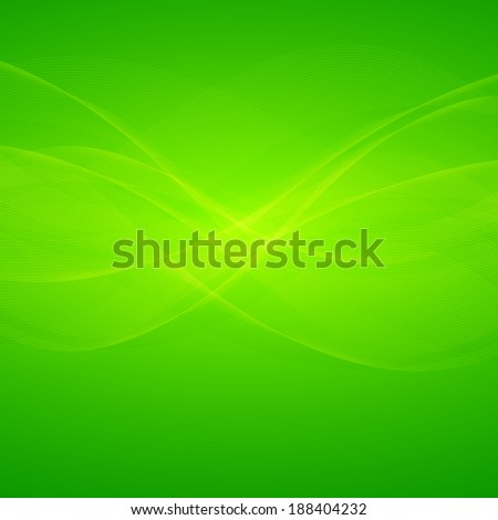 Wavy green lines abstract background