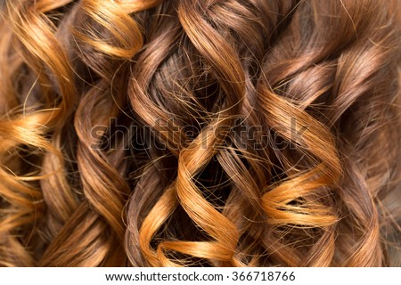 wavy hair as a background. texture - stock photo