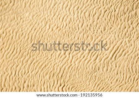wavy hot yellow sand background - stock photo