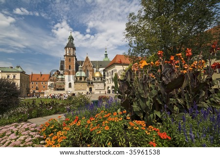 Wawel Castle in Krakow, Poland - stock photo