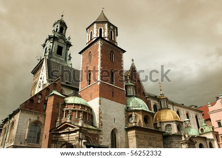 Wawel Cathedral in Cracow - stock photo
