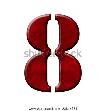 wax font - number 8